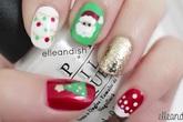 Trang điểm móng tay thật bắt mắt cho mùa giáng sinh